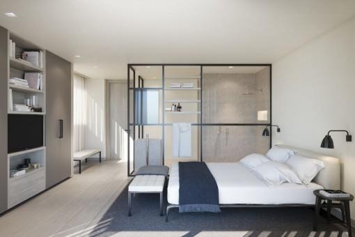 Weiteres Schlafzimmer mit Einbaukleiderschrank