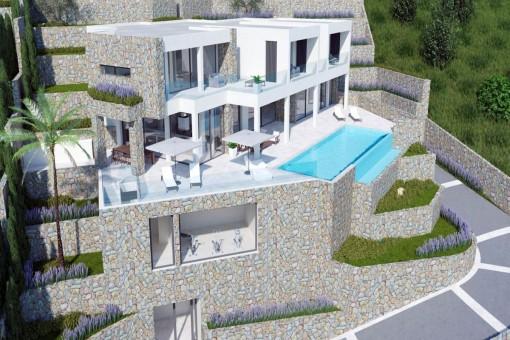 Außenansicht der hochwertigen Immobilie
