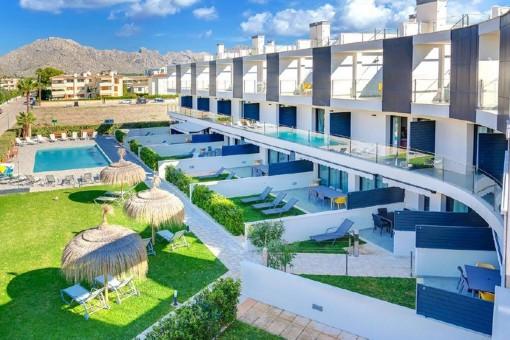 Apartment in moderner Apartmentanlage mit Pool in bevorzugte Wohngegend von Pollença