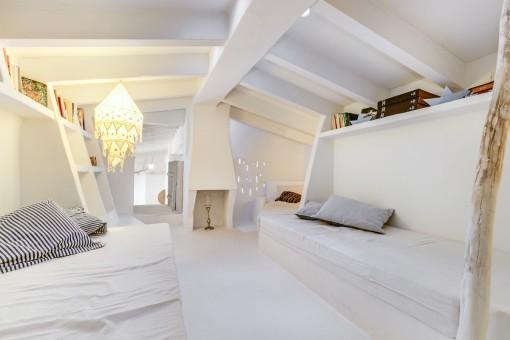 Zweites Schlafzimmer unter dem Dach