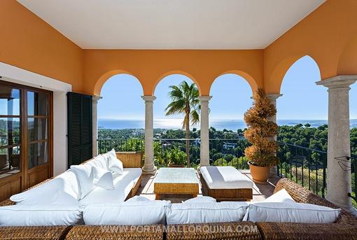 Mediterrane Villa mit fantastischem Meerblick in Costa d'en Blanes