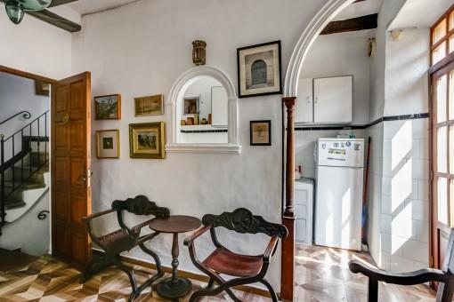 Kleine Sitzecke neben der Küche