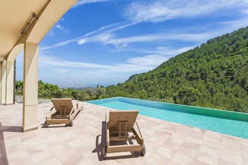 Mediterrane Villa mit spektakulären Blick