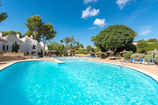 Charmantes Duplex Apartment mit Dachterrasse in Sol de Mallorca