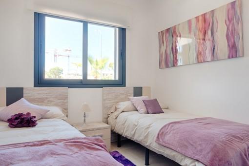 Schlafzimme rmit zwei Betten