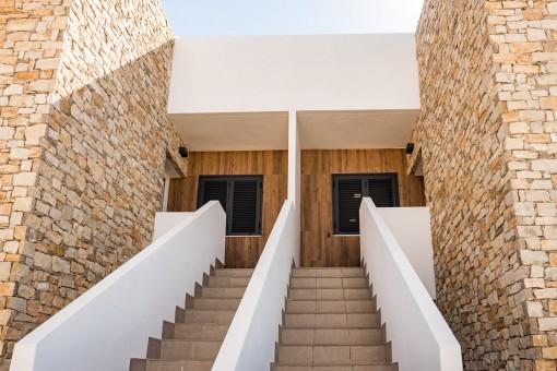 Zugang zu den Apartments in der oberen Etage