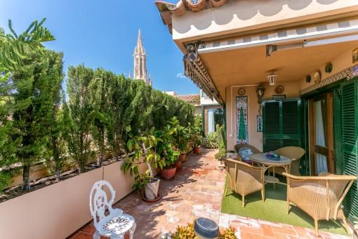 Die Terrasse bietet absolute Privatsphäre