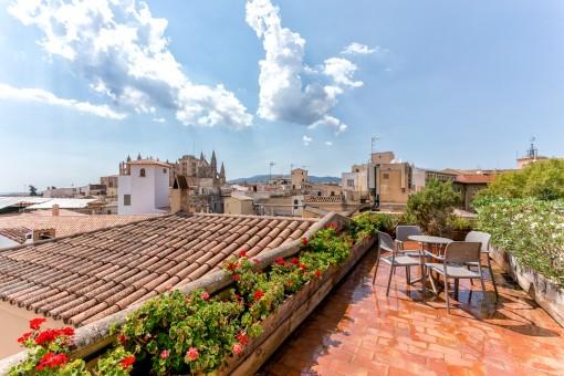 Dachterrasse mit wundervollen Blick über die Altstadt