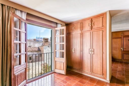 Schlafzimmer mit französischen Balkon
