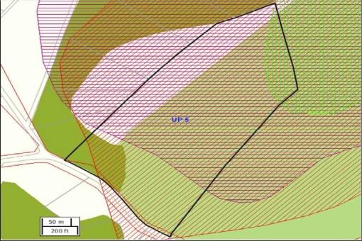 Plan des Grundstückes