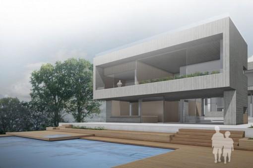 Alternative Ansicht der Villa