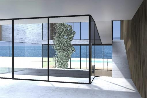 Die Villa bietet einen spektakulären Meerblick