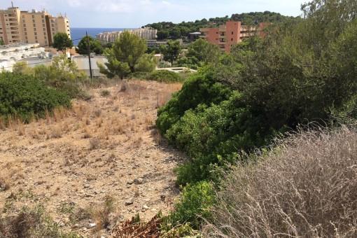 Großes, nach Südosten ausgerichtetes Grundstück zum Bau eines Familienhauses in Cala Vinyas