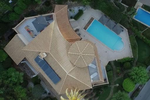 Vogelperspektive der Villa