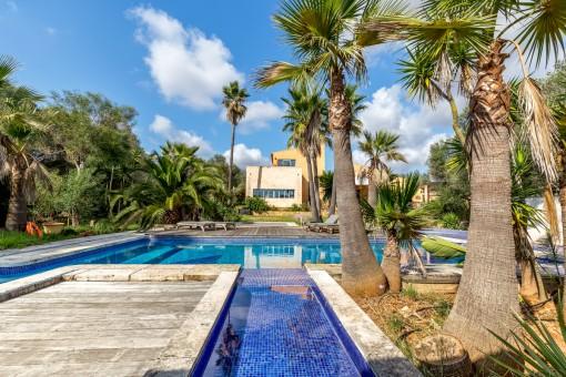Wunderschöne Finca mit separatem Gästehaus, Pool und Fitnessraum in Santanyí