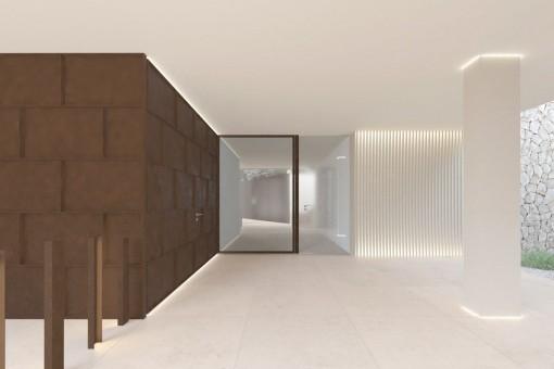 Ansicht des Eingangsbereichs