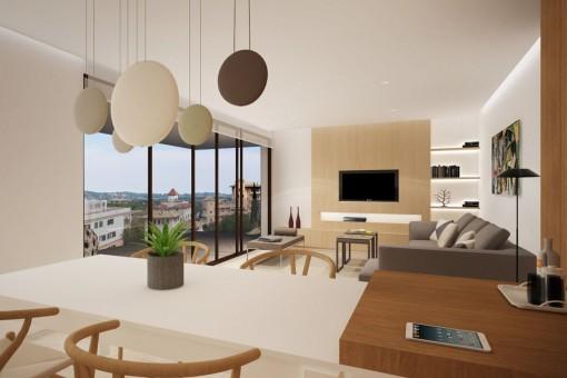 Fantastischer Wohnbereich mit Balkon