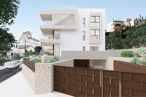 Weitere Außenansicht des Wohnkomplexes