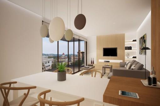 Neubauwohnung mit 3 Schlafzimmern und Terrasse, nur 100 Meter vom Strand Cala Nova entfernt
