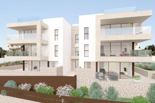 Der Wohnkomplex verfügt über 6 Wohneinheiten