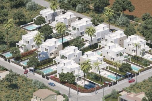 Plan der Neubauhäuser
