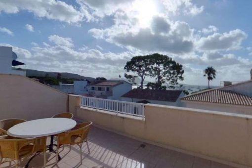 Fantastisches Duplexapartment mit Meerblick in direkter Nähe zum Pinewalk in Port de Pollensa