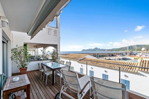 Fantastische Wohnung im Hafen von Cala Ratjada mit Panoramablick auf das Meer