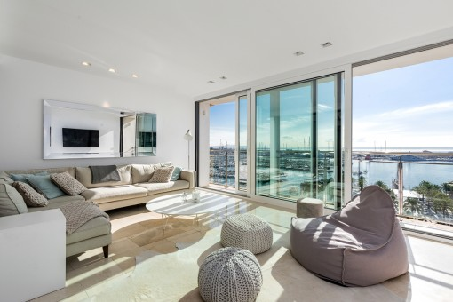 Exklusives Penthouse - Galerie-Wohnung mit traumhaftem Meerblick in Palma