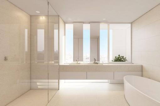 Helles und modernes Badezimmer