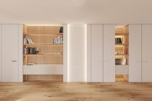 Die Wohnung hat ein modernes Design