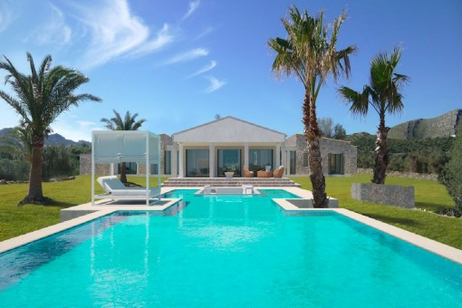 Fantastisches Neubau Luxus-Finca mit Meerblick in Cala Mesquida, Fertigstellung Mai - Juni 2019