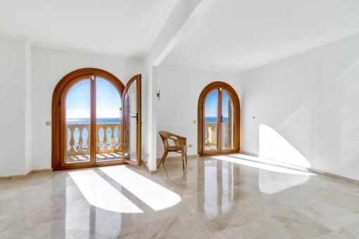 Weiteres Zimmer mit kleiner Terrasse und beeindruckender Aussicht