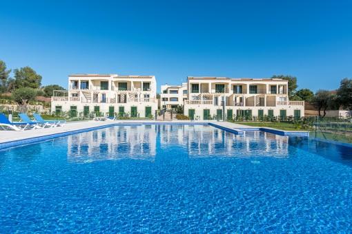 Neue Wohnanlage mit Reihenhäusern in einer ruhigen und besonders schönen Gegend in Portocristo an der Ostküste