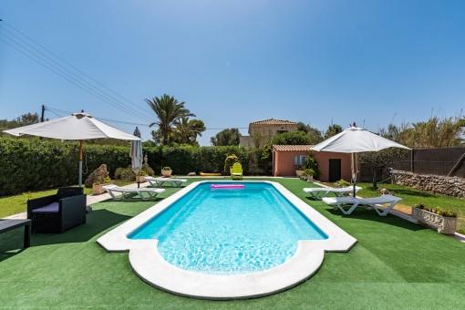 Villa mit Pool und Ferienvermietlizenz in Cap des Moro