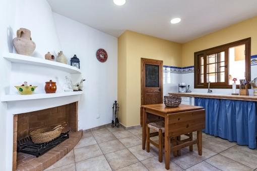 Kamin in der Küche