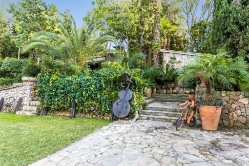 Charmante Elemente im Gartenbereich