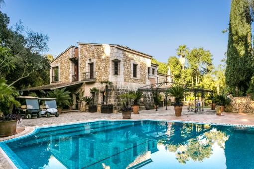 Wunderschönes Anwesen in Sencelles mit Vermietlizenz für 10 Personen und beeindruckender Vegetation