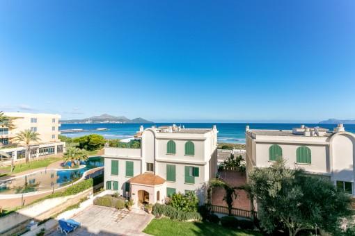 Meerblick-Apartment an der Playa del Muro in erster Meereslinie mit direkten Strandzugang