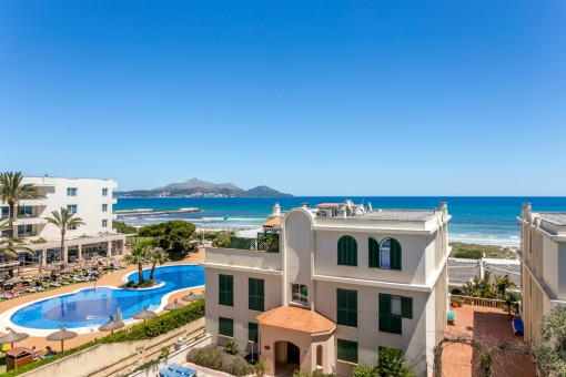 Exklusive Vermarktung Meerblick-Apartment an der Playa del Muro in erster Meereslinie mit direkten Strandzugang ab sofort frei