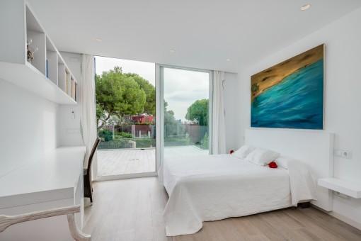 Doppelschlafzimmer mit Terrasse