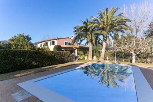 Ruhig gelegene Finca bei Alaró nur 2 Autominuten vom Dorf entfernt mit Privatsphäre und tollem Blick auf die Tramuntana