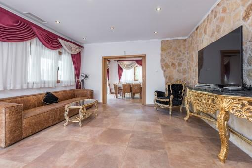 Luxuriöser und großzügiger Wohnbereich