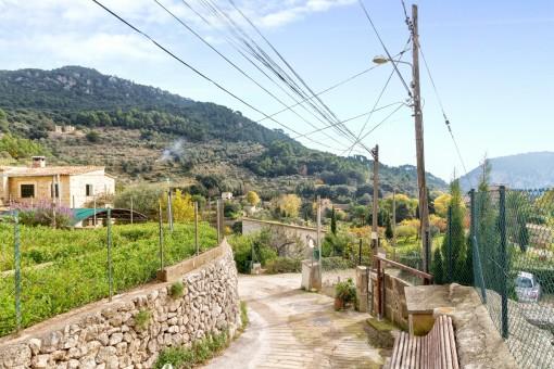 Herrlicher Ausblick über das Dorf