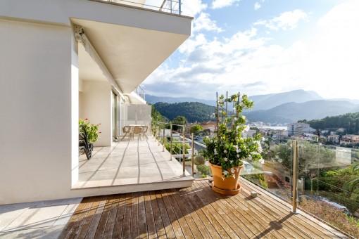 Traumhafter Bergblick vom Balkon aus