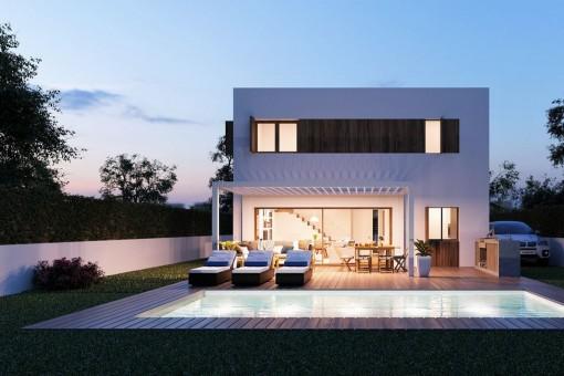 Villa Neubauprojekt mit Passivhaus-Zertifizierung in Bunyola