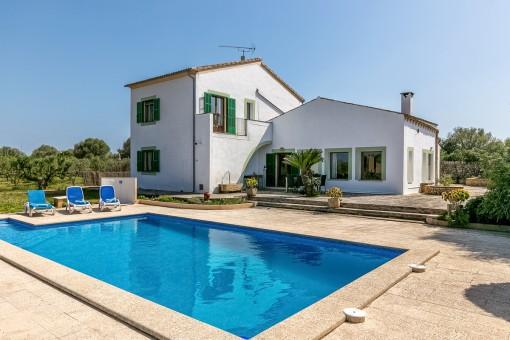 Gemütliches Landhaus mit Pool und Weitblick in Campos