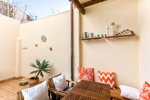 Süße Wohnung mit Patio in Palma