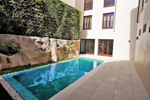 Apartment der Extraklasse mit Pool, Fitnessraum und Tiefgarage mitten in der Altstadt Palmas