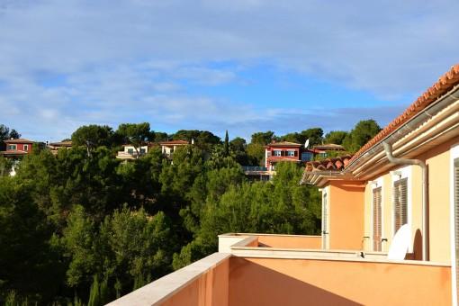 Herrliche Aussicht von der Terrasse aus
