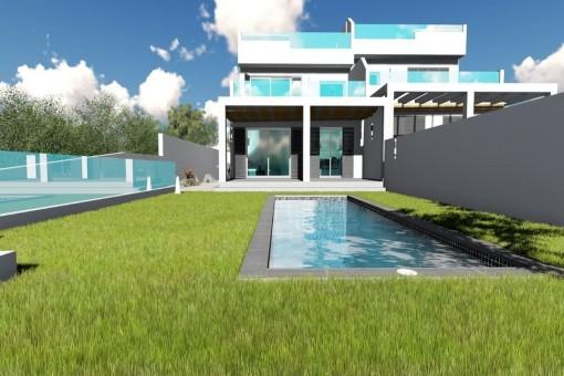 Projekt einer Neubau-Doppelhaushälfte mit traumhaftem Meerblick in Tolleric